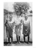 Nandi Warriors in Africa Photograph - Africa Posters by  Lantern Press