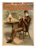 Sherlock Holmes Theatrical Play Poster No.1 Print by  Lantern Press