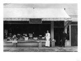 Seaside, Oregon View of Hoefler Ice Cream Shop Photograph - Seaside, OR Print by  Lantern Press