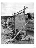 Navajo Women Weaving Blankets Photograph Posters
