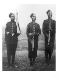 Three British Black Soldiers in Africa Photograph - Africa Posters by  Lantern Press