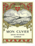 Mon Cuvier Wine Label - Europe Posters by  Lantern Press