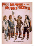 Paul Gilmore in The Musketeers Theatrical Poster Print by  Lantern Press