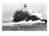 Tillamook, Oregon Lighthouse Near Seaside, OR Photograph - Tillamook, OR Print by  Lantern Press