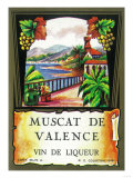 Muscat De Valence Wine Label - Europe Print