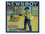 Newsboy Orange Label - Redlands, CA Posters
