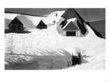 Timberline Lodge Skiing off Roof Mt. Hood Photograph - Mt. Hood, OR Posters by  Lantern Press