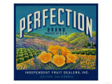 Perfection Orange Label - Colton, CA Print by  Lantern Press