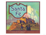 Santa Fe Orange Label - Redlands, CA Print