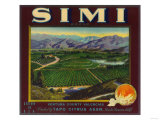 Simi Orange Label - Santa Susana, CA Poster