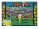 Umpire Lemon Label - Claremont, CA Posters by  Lantern Press