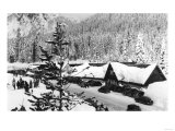 Snoqualmie Pass Ski Park and Lodge Photograph - Snoqualmie Pass, WA Art by  Lantern Press