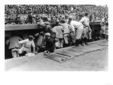 New York Yankees Dugout, Baseball Photo - New York, NY Posters by  Lantern Press