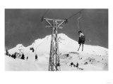 Timberline Lodge Mt. Hood Mile Long Chair Ski Lift Photograph - Mt. Hood, OR Prints