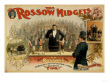The Rossow Midgets Boxing Match Theatre Poster Print by  Lantern Press