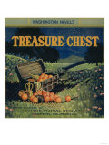 Treasure Chest Orange Label - Crafton, CA Print by  Lantern Press