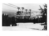 Mt. Hood Skiway to Timberline Lodge Photograph - Mt. Hood, OR Posters by  Lantern Press