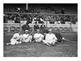 NY Giants and Cincinnati Reds Players, Baseball Photo - New York, NY Posters