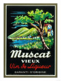 Muscat Vieux Wine Label - Europe Posters by  Lantern Press