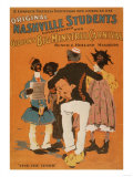 Nashville Students & Minstrel Carnival Blacks Poster No.3 Poster by  Lantern Press