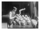 Trepanned Skulls at the National Museum Photograph - Washington, DC Poster by  Lantern Press