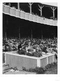 President's Box Seats at Polo Grounds, NY Giants, Baseball Photo - New York, NY Poster