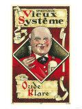 Vieux Systeme Wine Label - Europe Poster