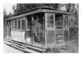 Green Lake Trolley Photograph - Seattle, WA Prints by  Lantern Press