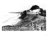 View of Southern Pacific Daylight Train Along Coast - Los Angeles, CA Prints by  Lantern Press