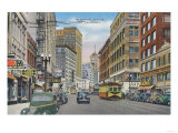 View of Telegraph Ave - Oakland, CA Prints by  Lantern Press