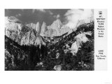 View of Mt. Whitney - Lone Pine, CA Prints