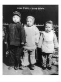 Three Children on New Year's in Chinatown NYC Photo - New York, NY Posters by  Lantern Press