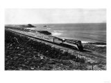 View of Southern Pacific Daylight Train Along Coast - San Francisco, CA Prints by  Lantern Press