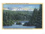 Three Sisters Mountains Near Bend, OR from Scotts Lake - Bend, OR Posters by  Lantern Press