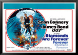 James Bond Diamonds Are Forever Posters