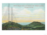 View of Wireless Telegraph Towers - Mt. Tamalpais, CA Art by  Lantern Press