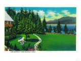 Lake Quinault from Quinault Hotel - Olympic National Park Prints by  Lantern Press