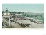 View of the Casino, Beach, and Pier - Santa Cruz, CA Prints by  Lantern Press
