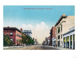 View of Nineteenth Street - Bakersfield, CA Art by  Lantern Press