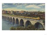 Train- Crossing Stone Arch Bridge, Minneapolis, MN - Minneapolis, MN Poster