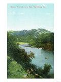 Aerial View of Russian River at Camp Rose - Healdsburg, CA Prints by  Lantern Press