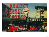 Pike Place Market, Seattle, WA - Seattle, WA Prints by  Lantern Press