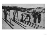 View of Skiers Posed and Ready for a Race - La Porte, CA Art by  Lantern Press