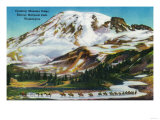 Crossing Mazama Ridge, Rainier National Park - Rainier National Park Prints by  Lantern Press