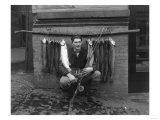 Eddie Bauer with steelhead trout Photograph - Seattle, WA Prints
