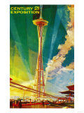 Space Needle Exposition, Seattle, WA - Seattle, WA Prints by  Lantern Press