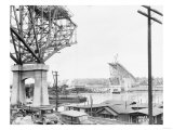 Aurora Bridge Construction Photograph - Seattle, WA Prints by  Lantern Press