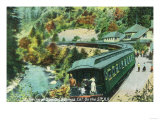 Arriving at the Springs on the Southern Pacific Railroad - Shasta Springs, CA Prints by  Lantern Press