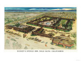 Aerial View of Rickey's Studio Inn - Palo Alto, CA Prints by  Lantern Press