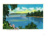 Sheltered Cove on Hood Canal - Hood Canal, WA Prints by  Lantern Press